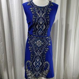 Royal Blue Patterned Dress